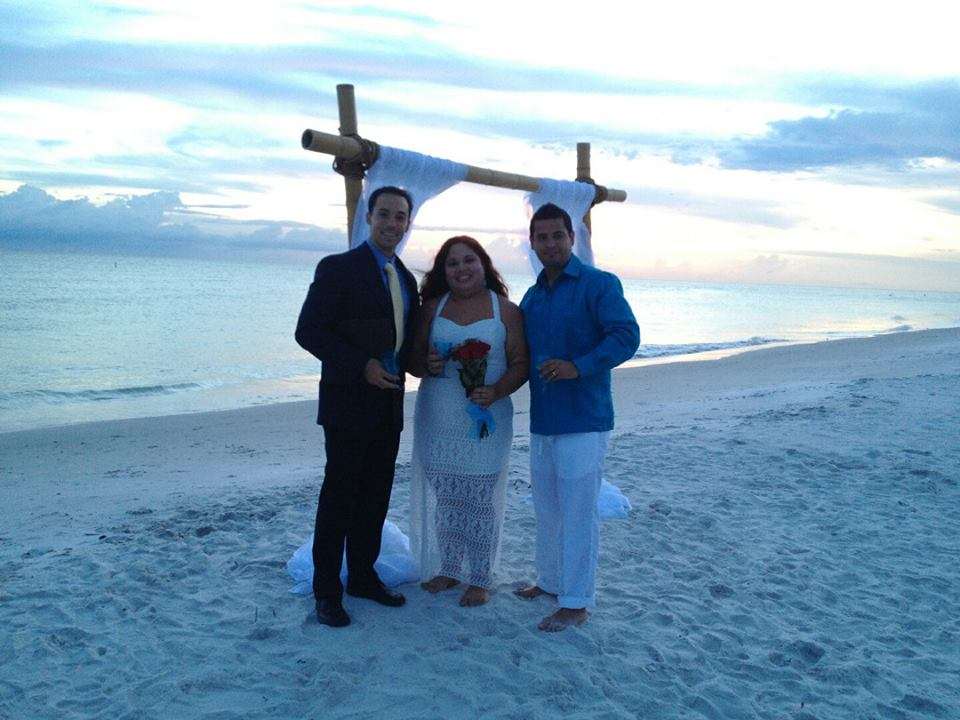 George Jr performed a Spanish wedding ceremony on Clearwater beach