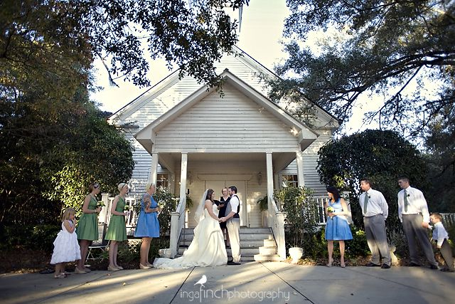 A picture Inga Finch took of me officiating M wedding at Shilow Farms in Tallahassee, FL.