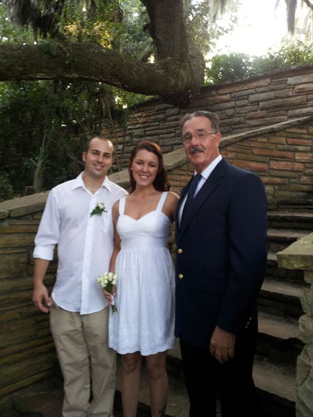 George Sr. officiated a beautiful small intimate wedding at Phillipe Park in Safety Harbor
