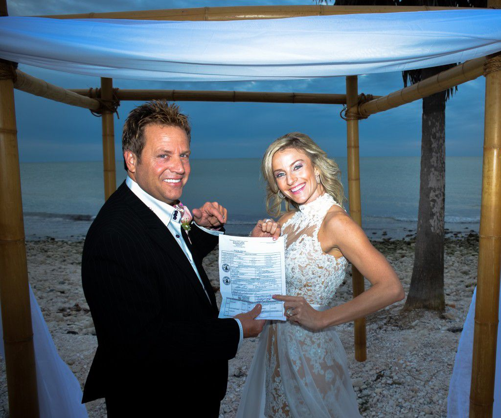 On your wedding day have your marriage license ready so we can notarize it