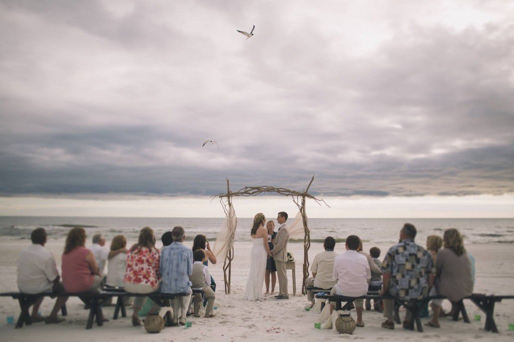 Picture that Black and Hue took at a wedding I was officiating in Cape San Blas