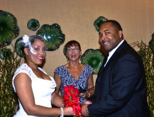Tie the knot ceremony at wedding officiated by Charmaine