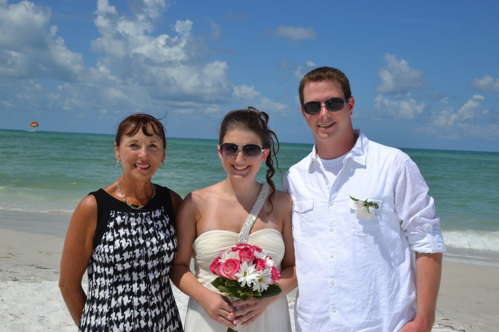 Me, Diana, and Chris after their Siesta Key Beach wedding elopement. They were a great couple to work with and I wish them many years of happiness. Photos by George Sr.