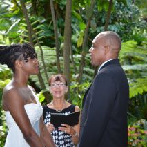 I performed a heartfelt, short and sweet ceremony. Photos by George Sr.