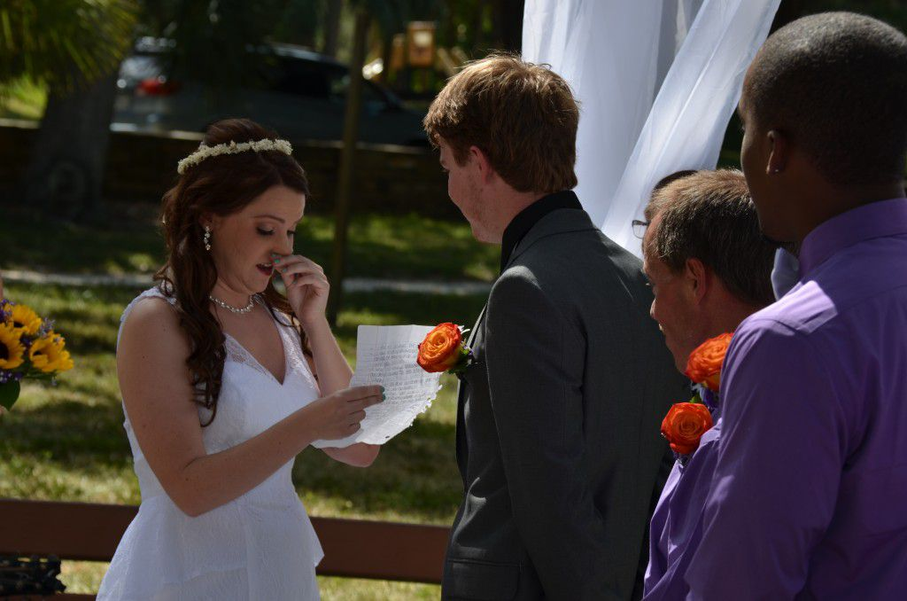 A very tearful yet happy ceremony