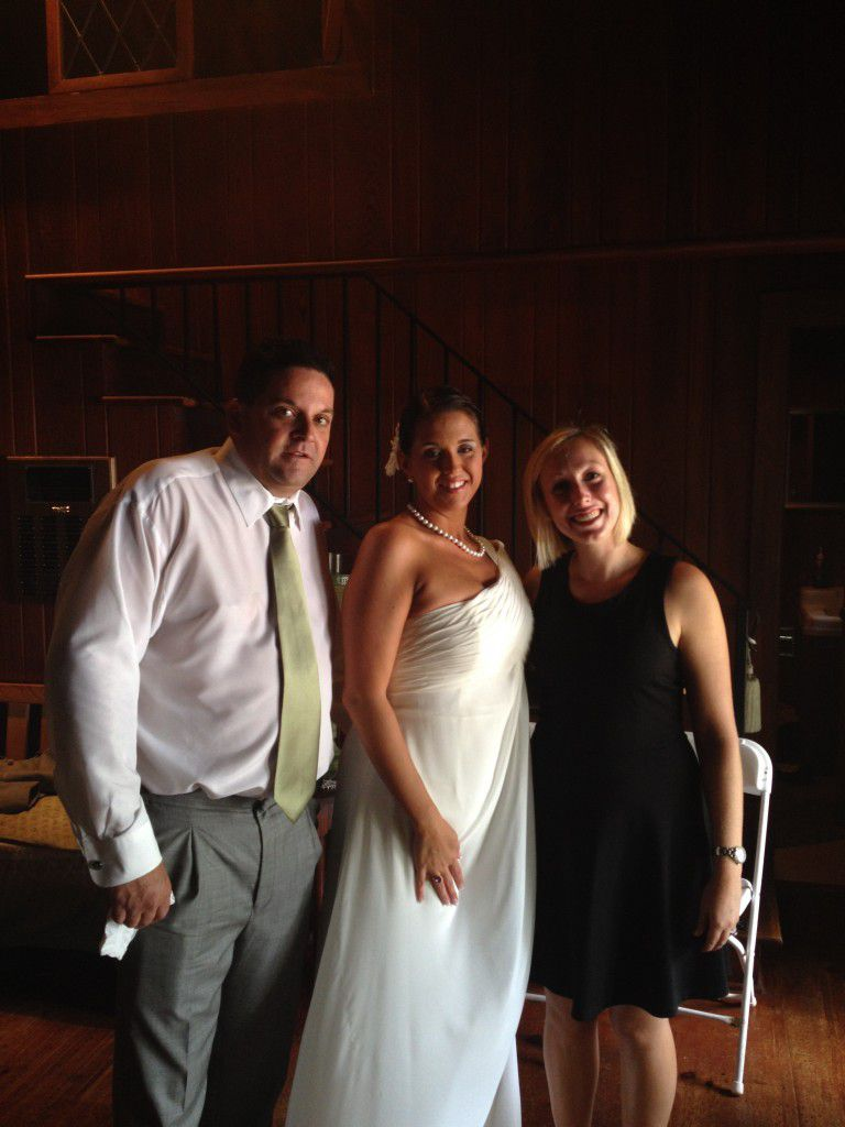 Inside the cabin after the wedding ceremony