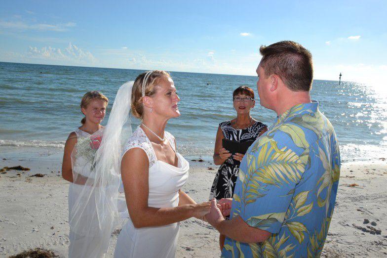 Impromptu Honeymoon Island Wedding