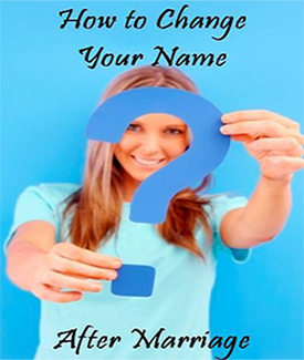 Changing Your Last Name After Marriage