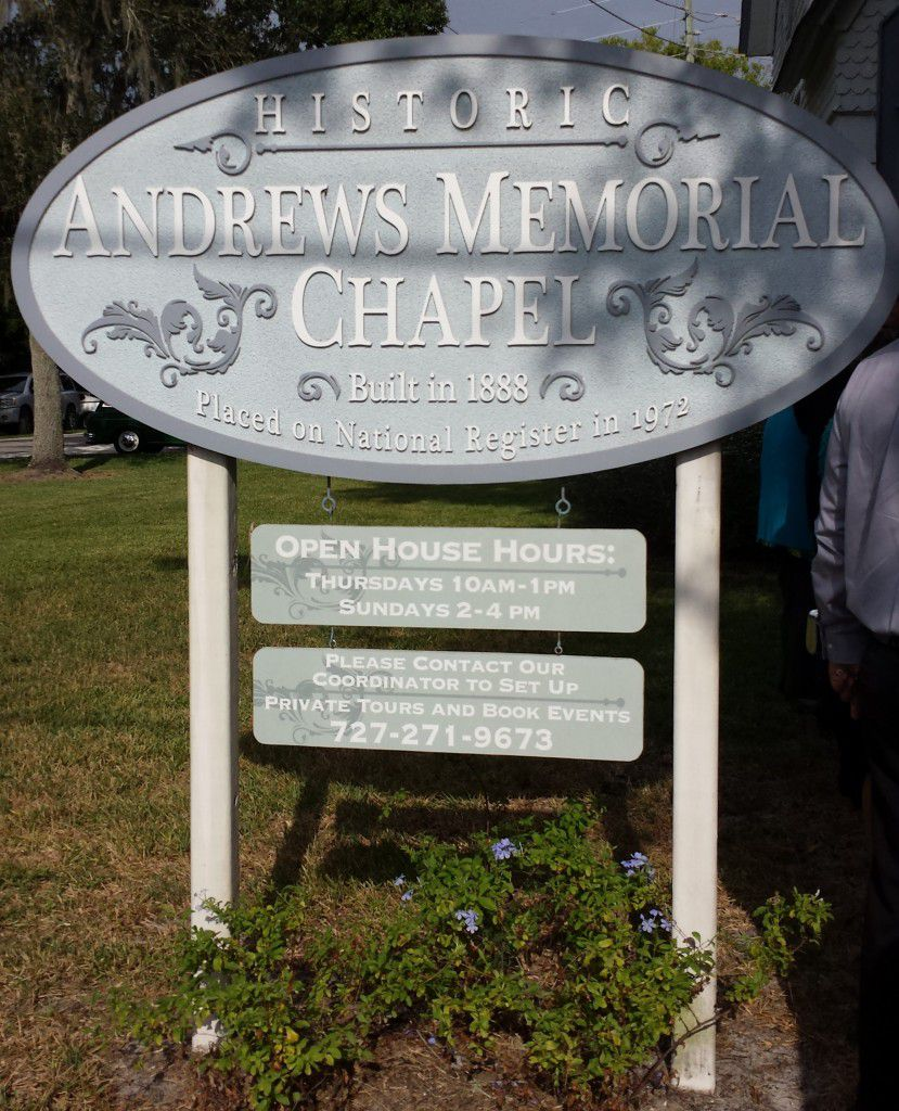 Andrews Memorial Chapel in Dunedin is a great place for a civil ceremony wedding.