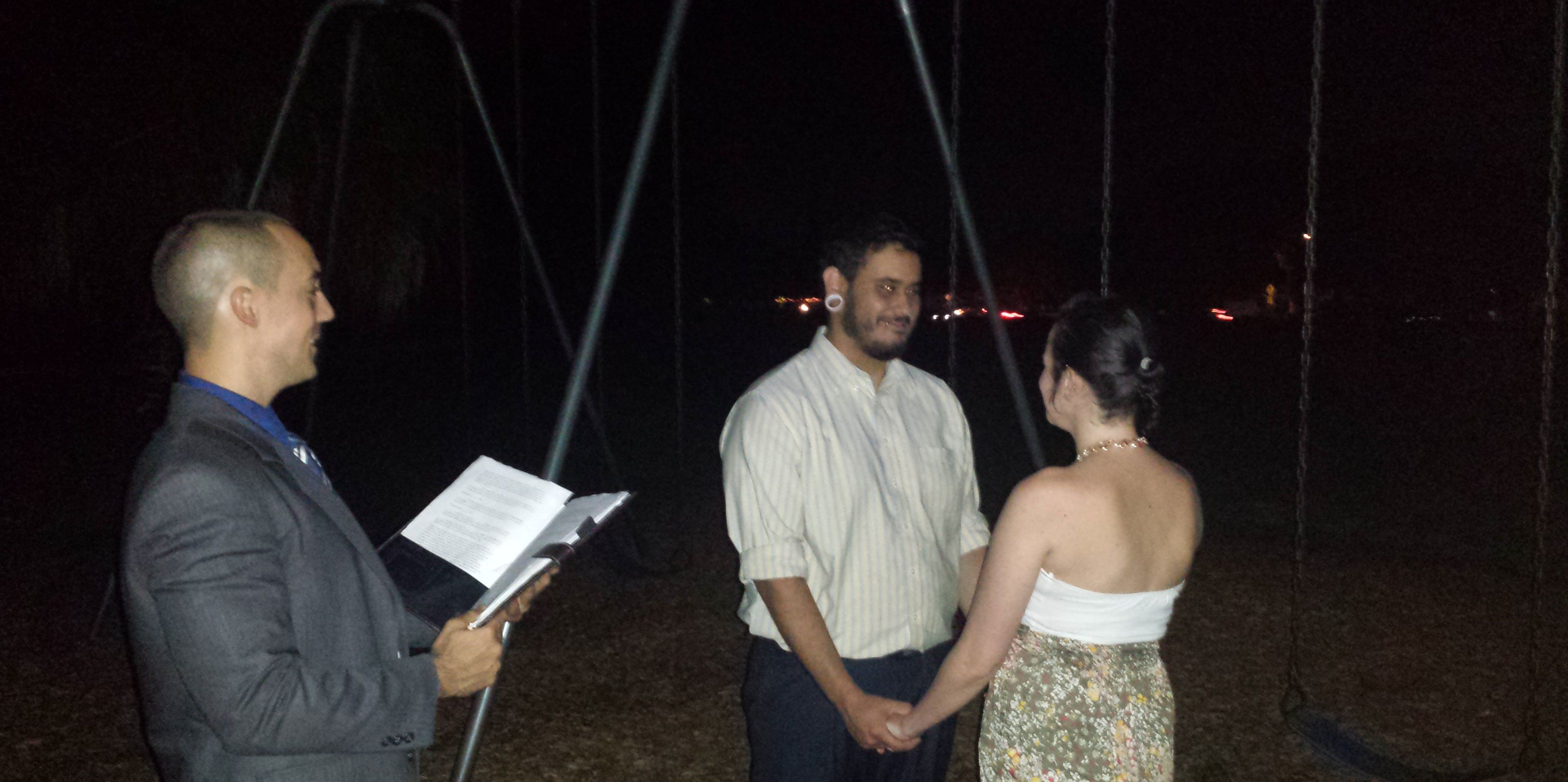 Moonlight Wedding in Port Richey Florida