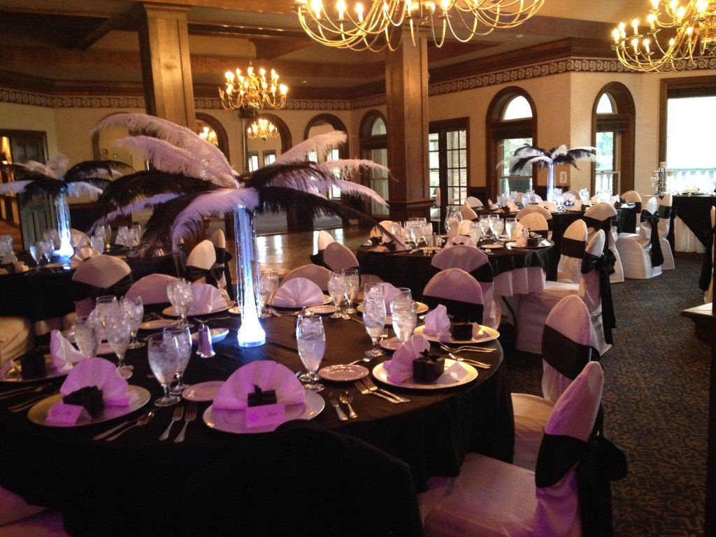 Reception setup at Hollie and Seths wedding at Golden Eagle Country Club in Tallahassee