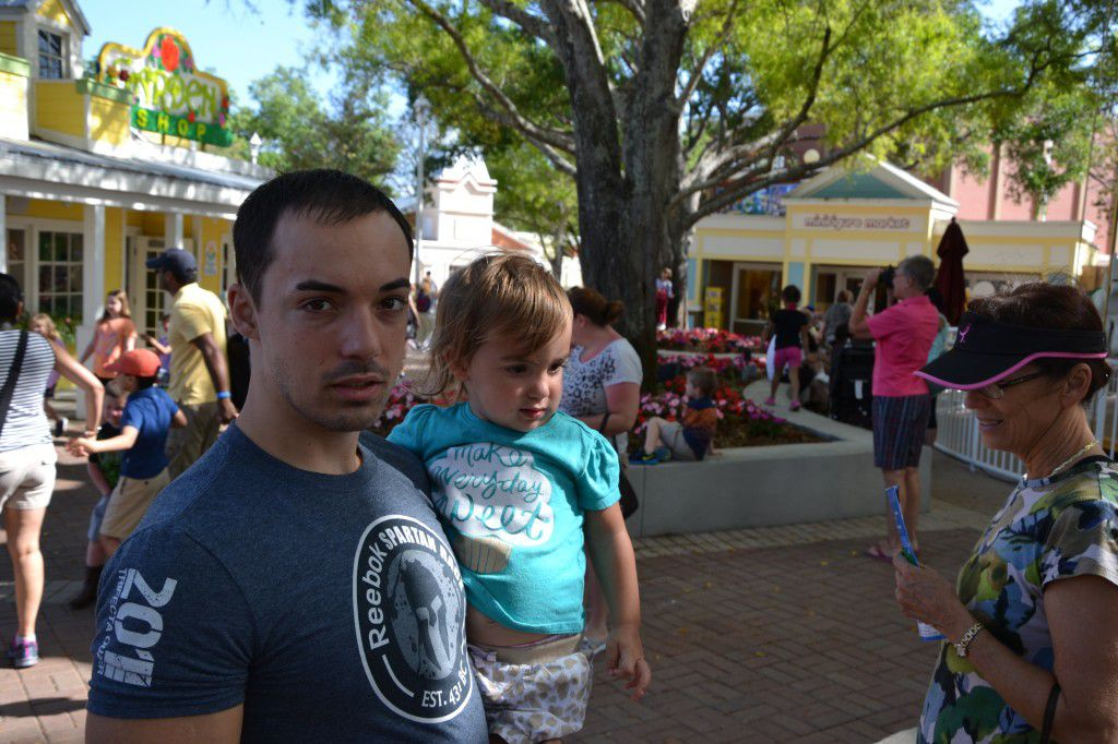 George Jr. and Adriana at a festival in Dunedin, FL.