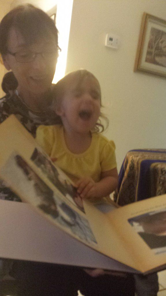 Adriana loves when I read to her.