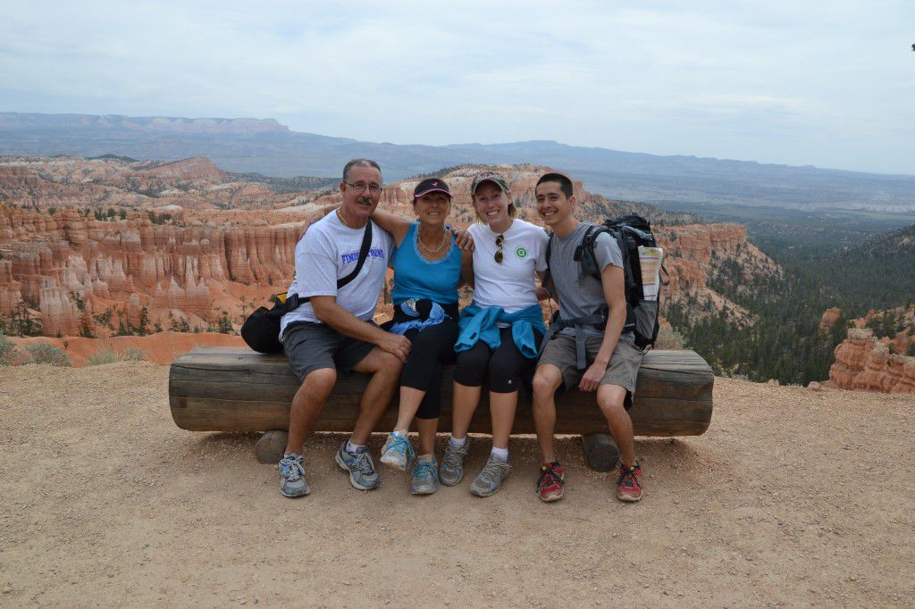 George Sr., me, Amanda, and Ryan in Bryce Canyon National Park
