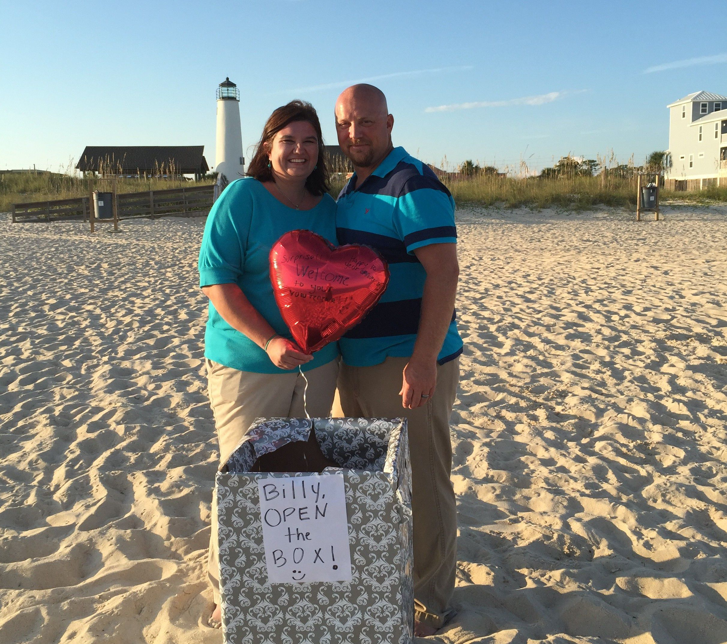 St. George Island Surprise Vow Renewal Ceremony