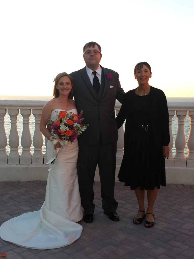 Me with the newly wed Amanda and Travis at their Hyatt Regency Clearwater Beach Wedding Ceremony.
