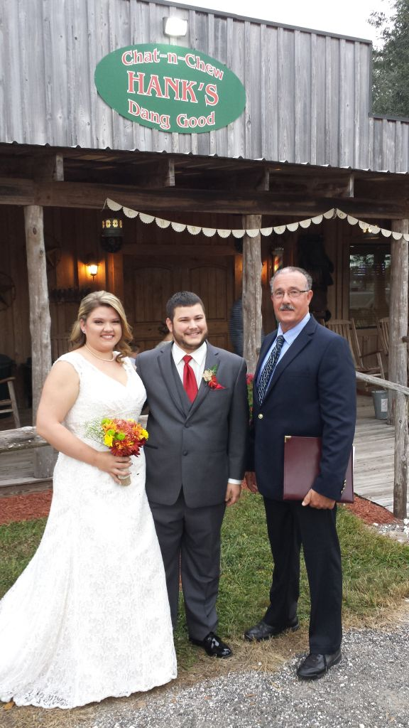 George Sr. with the newly wed