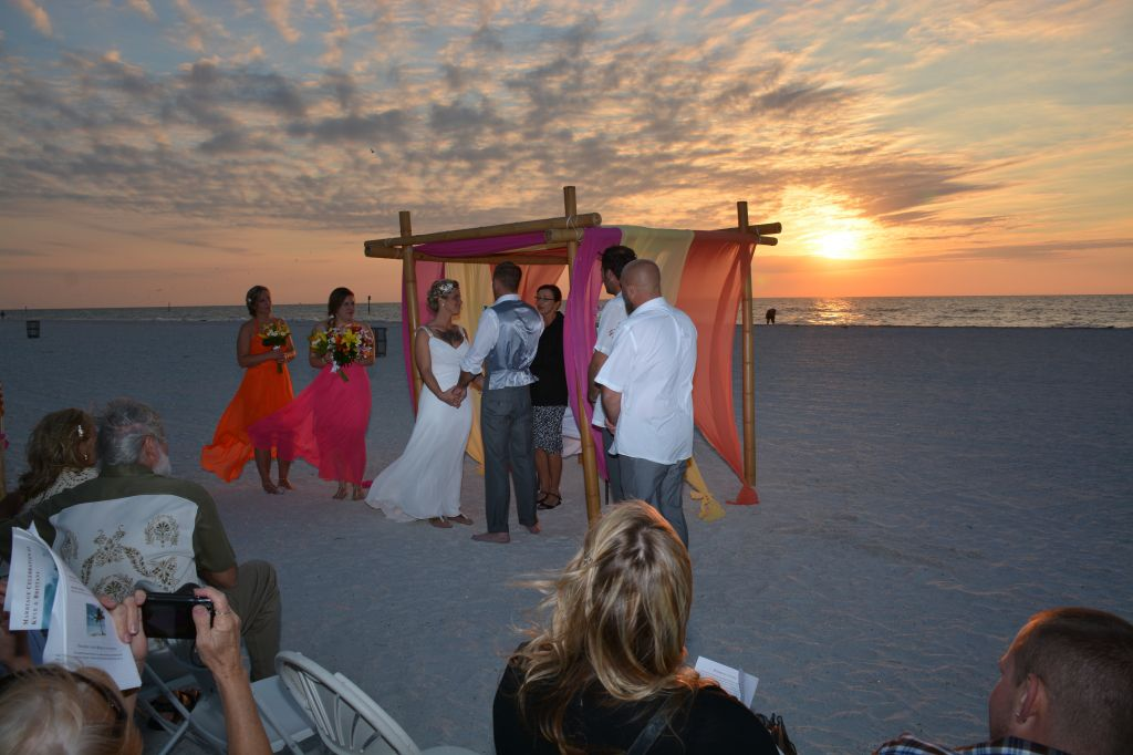 Clearwater beach wedding ceremony setup. Photos by George Sr.