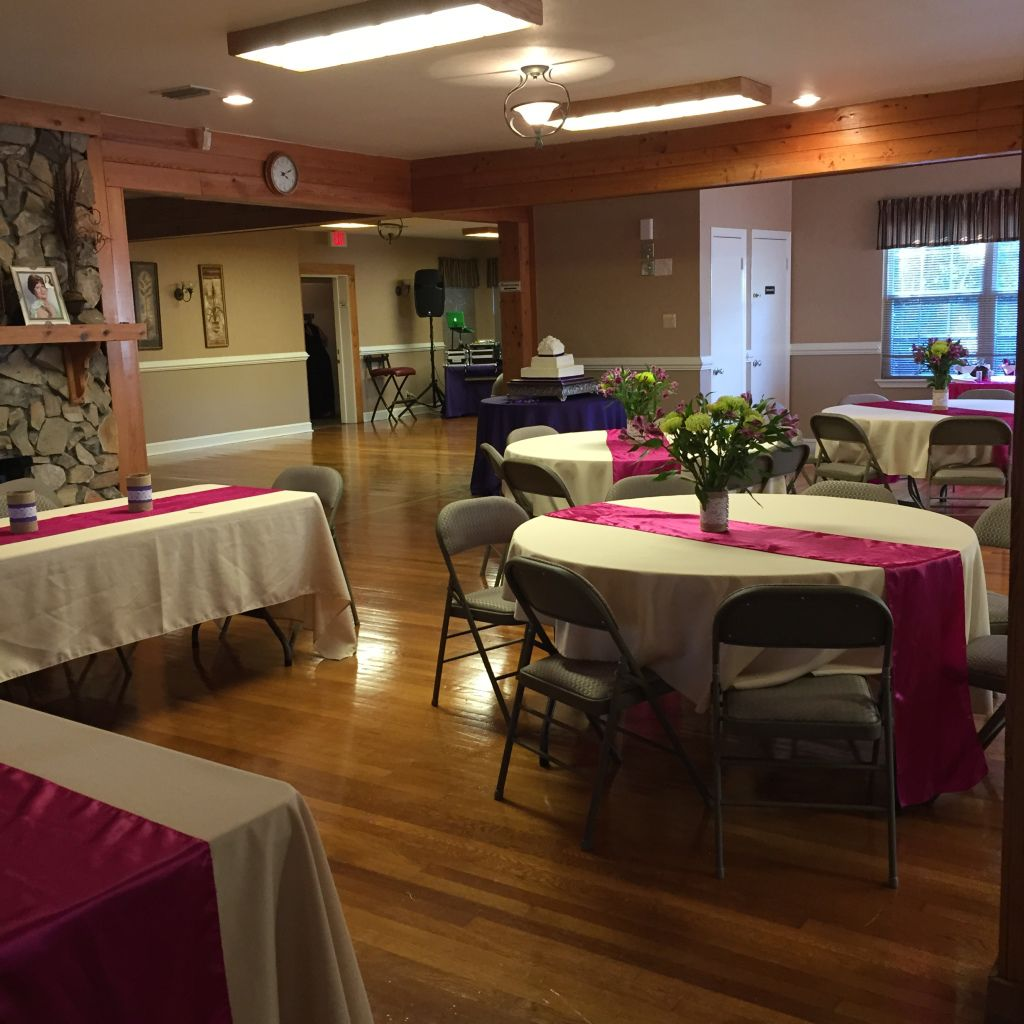 Inside the Piney Z Lodge for Leann and Joseph's wedding reception.