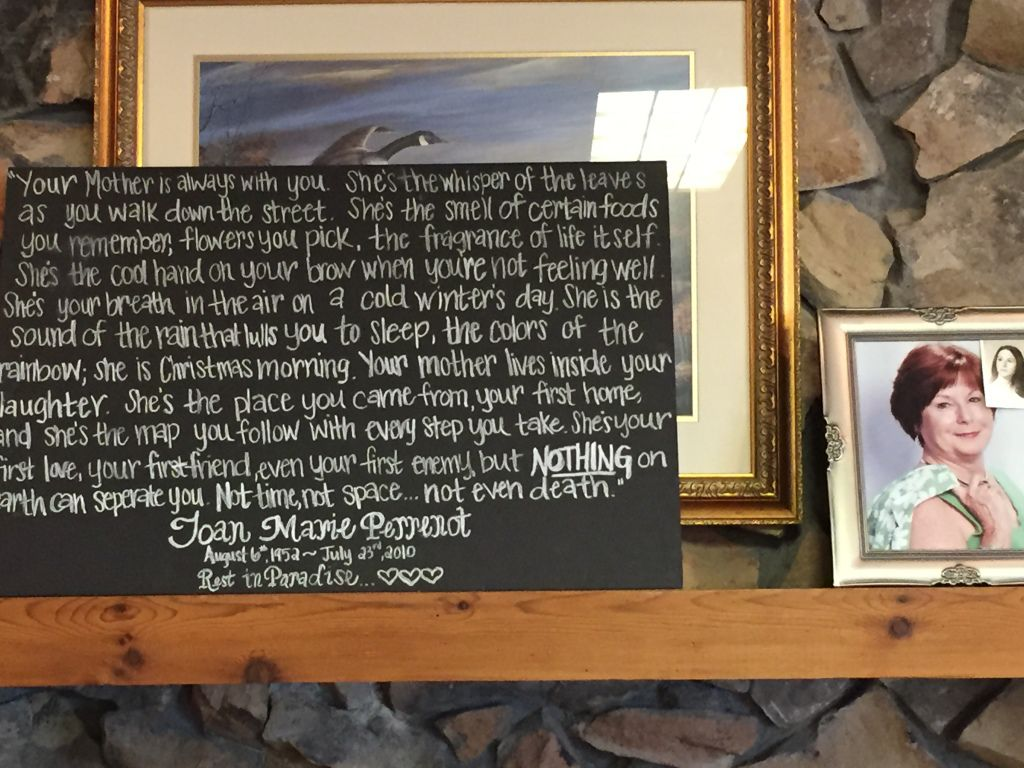 Beautiful remembrance memorial message for Joseph's mother.