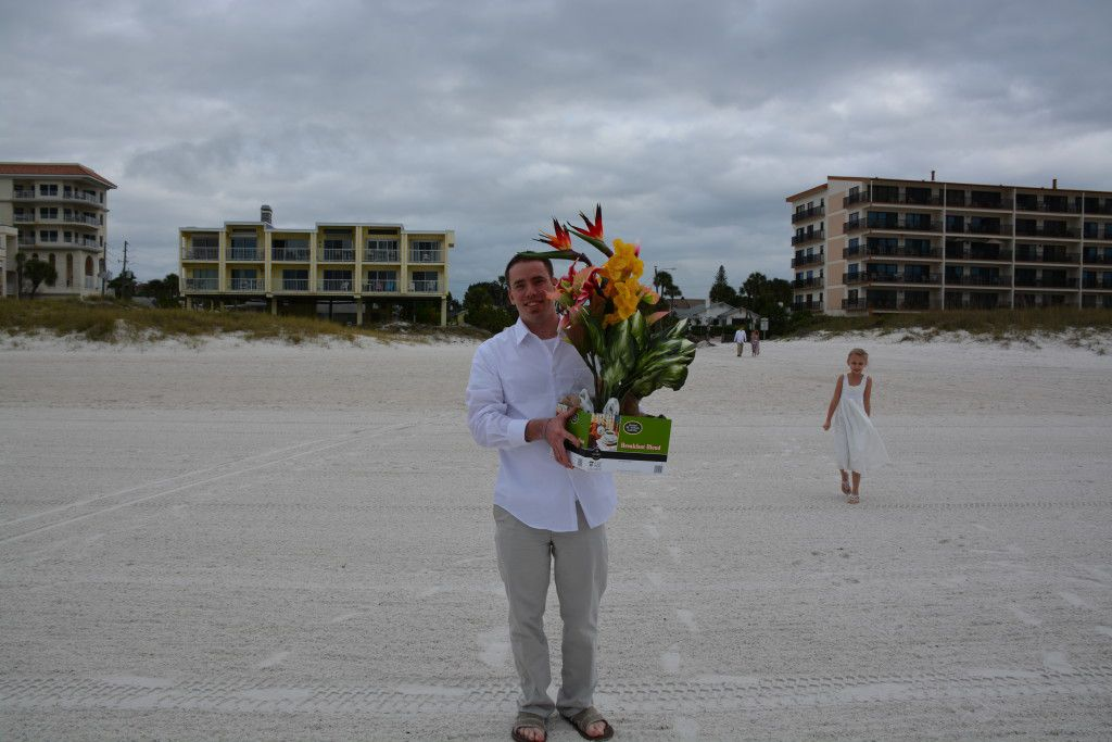 Steve getting ready for his Clearwater Beach Wedding Ceremony.