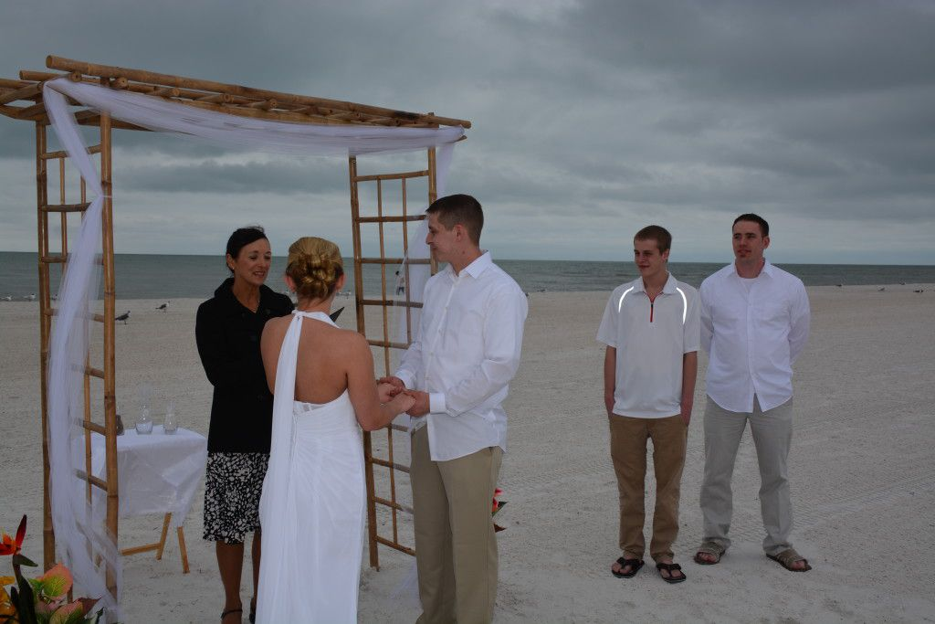 Me officiating Steve and Amber's Clearwater Beach Wedding Ceremony. Photos by George Sr.