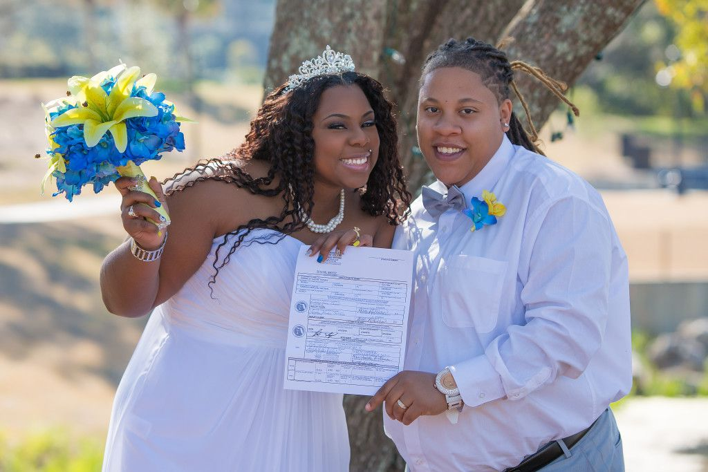 Finally able to get legally married in Florida!!! Photo by Bret Svenson