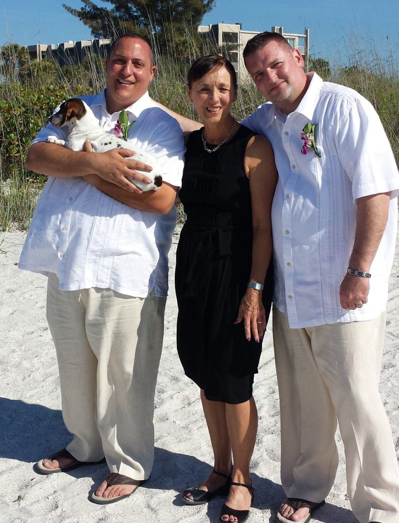 Me with at their St. Petersburg Pass A Grille Wedding Ceremony