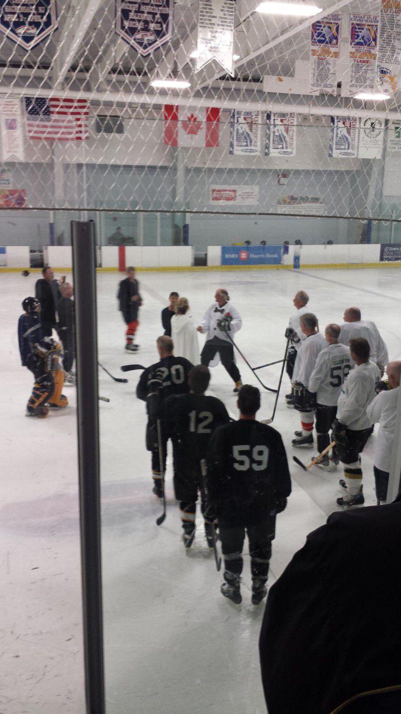 Sarasota Wedding Ceremony Officiated on an Ice Hockey Rink