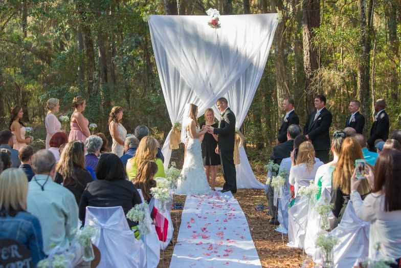 Tallahassee Wedding Ceremony at the Big Bend Girl Scout Camp