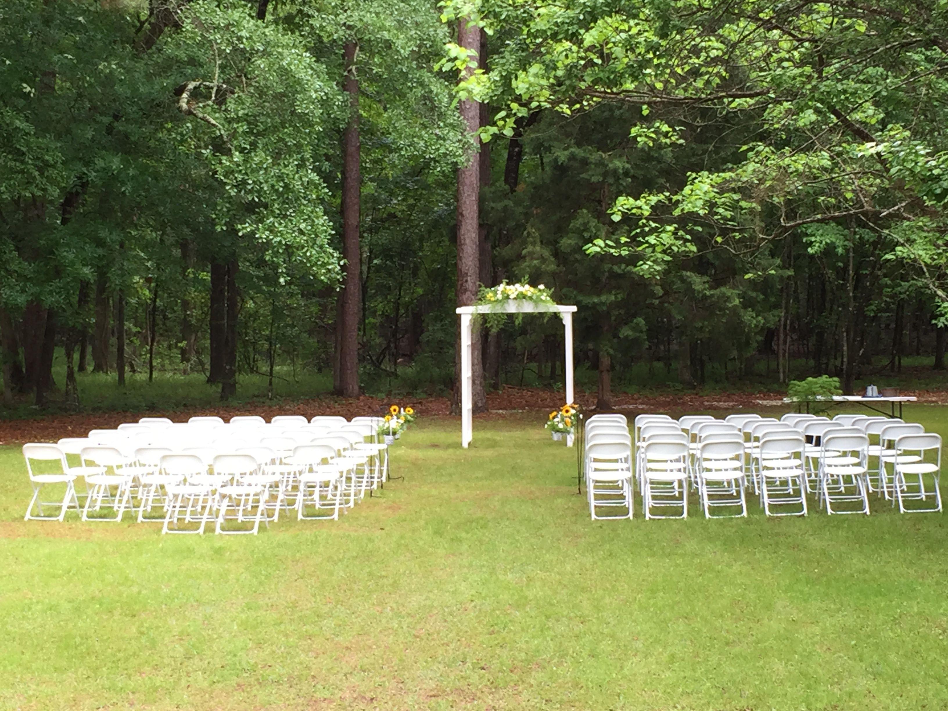 Lake Iamonia Lodge Wedding Ceremony Tallahassee Florida