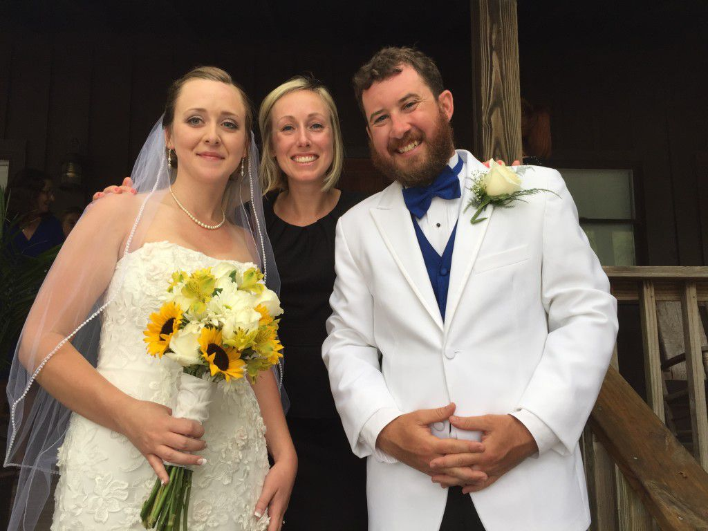 Me with the newly married Melissa and Harry.