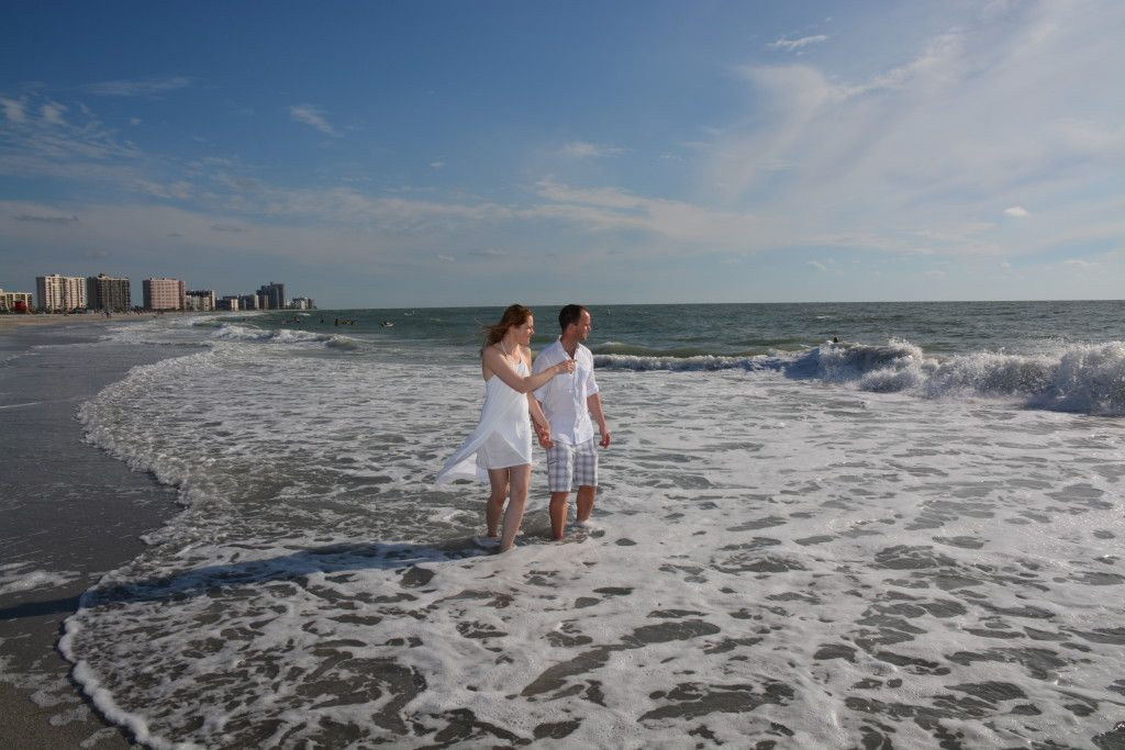 It was the PERFECT day for a Sand Key Beach Clearwater Wedding ceremony. Photos by George Sr.