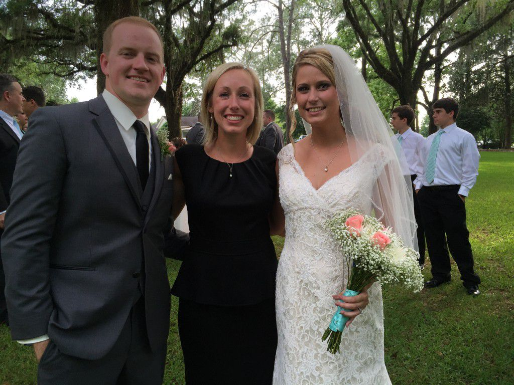 Me with the newly married Zach and Lauren at their Southwood House wedding ceremony
