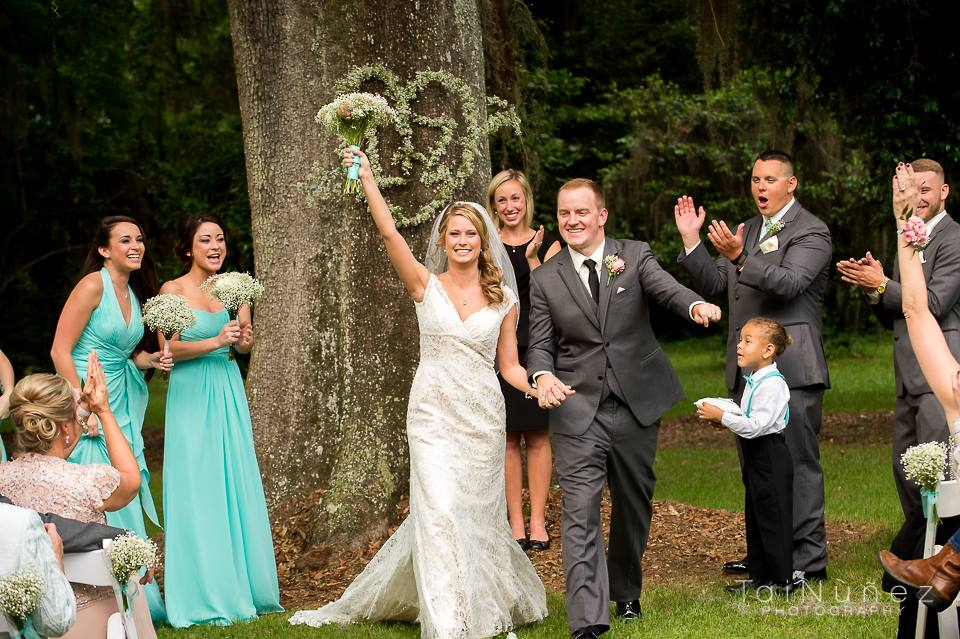 Ceremony is over and now everyone is HAPPY!!! This amazing moment was captured by Tai Nunez Photography