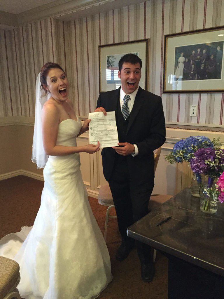 Legally married and SO excited!