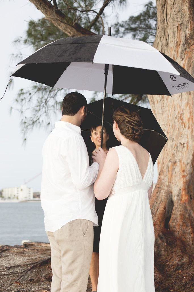 Rainy Clearwater Sand Key Park Elopement Ceremony