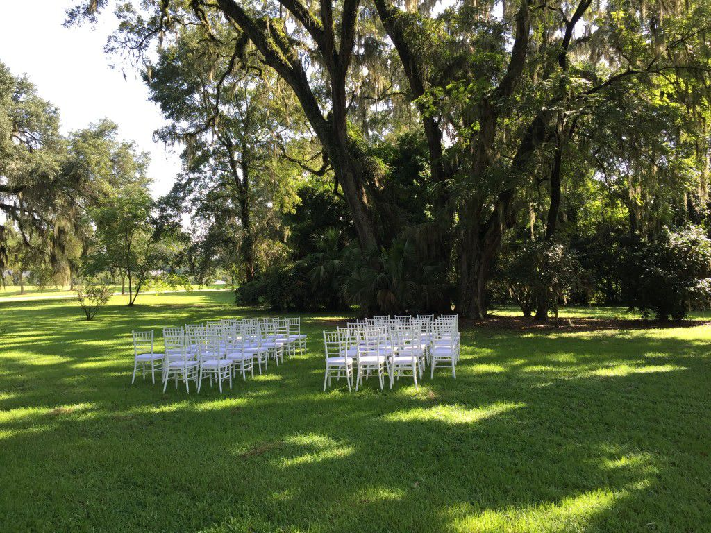Have your ceremony early in the day and in a place with a  lot of shade.