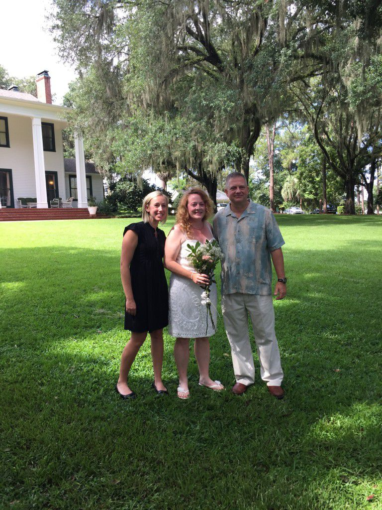 Me with the newlyweds!