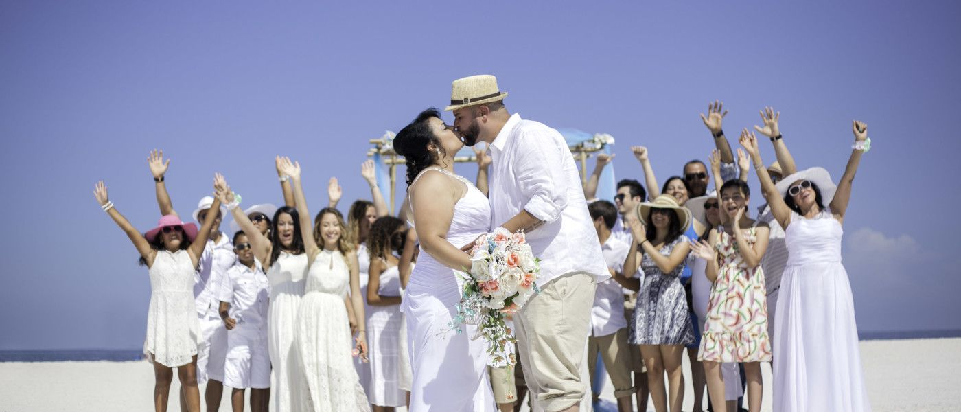 4th of July Clearwater Beach Wedding Ceremony