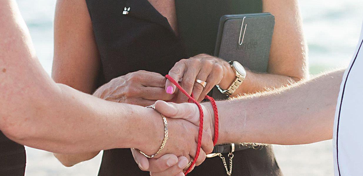 Celtic Hand Fasting Ceremony Sand Key Park Wedding