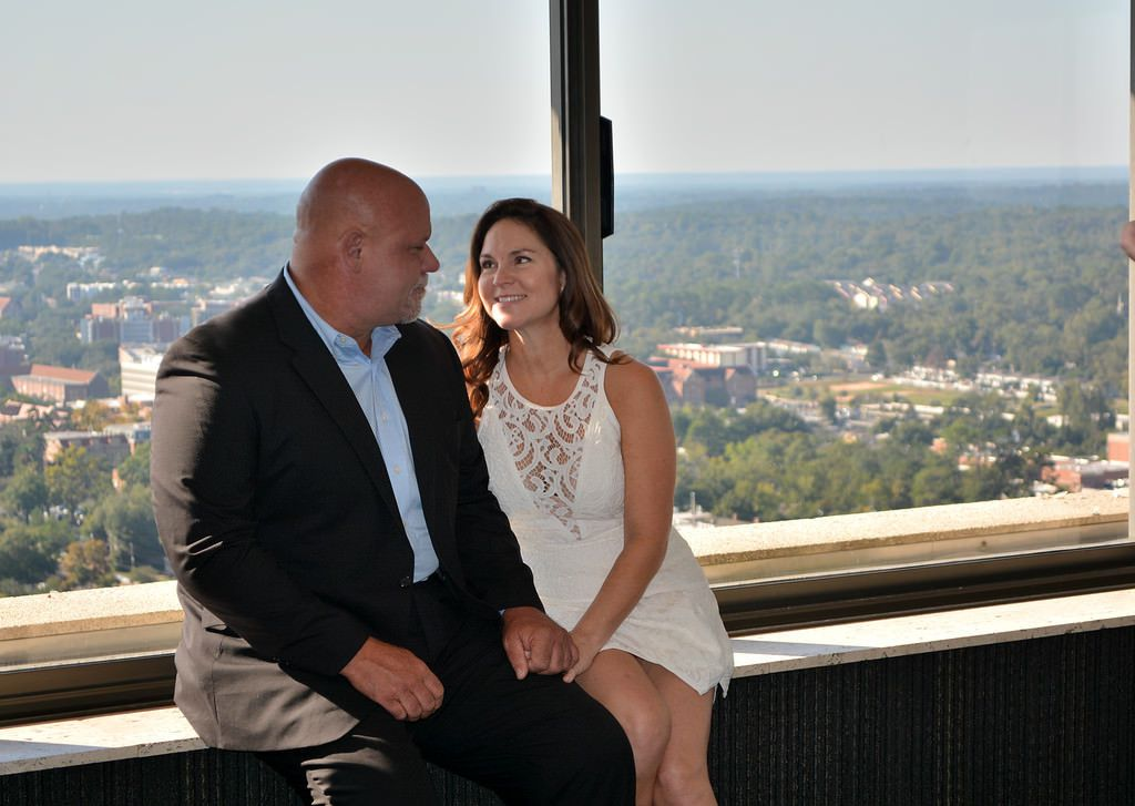 Love knows no heights...so might as well get married at the highest point in the state capitol.