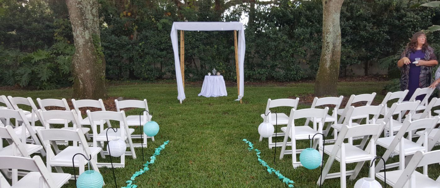 backyard wedding ceremony tampa