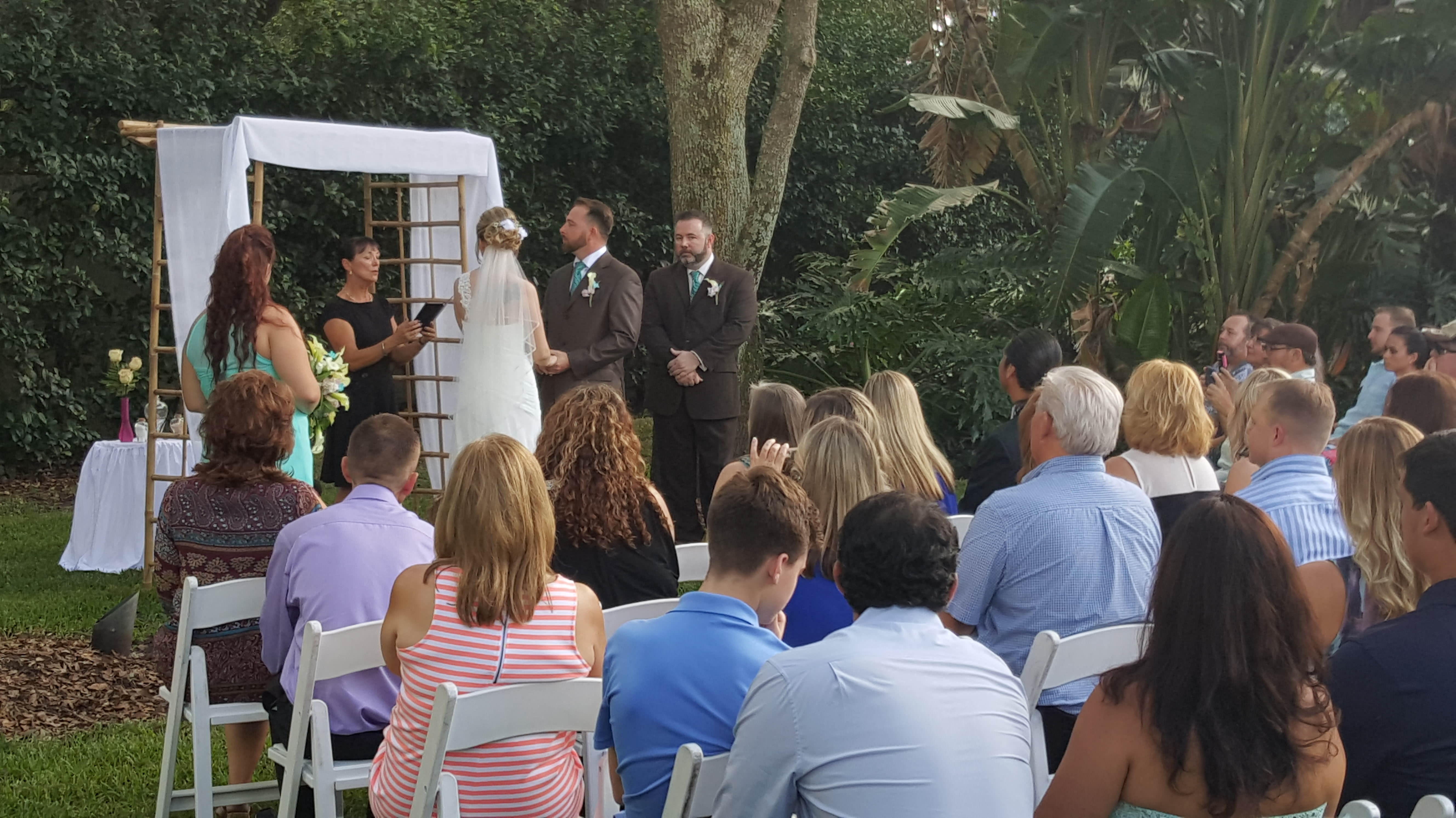 Cherished Ceremonies Weddings Tampa Wedding: Backyard Wedding Ceremony Tampa