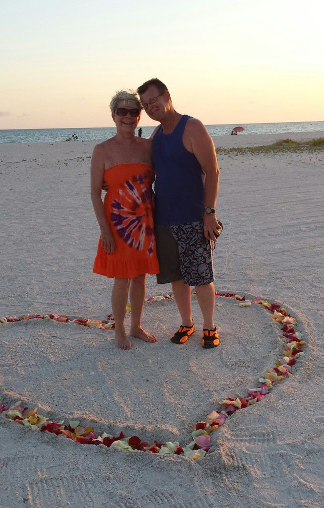 Chris and Lisa at their vow renewal ceremony in St Petersburg Florida