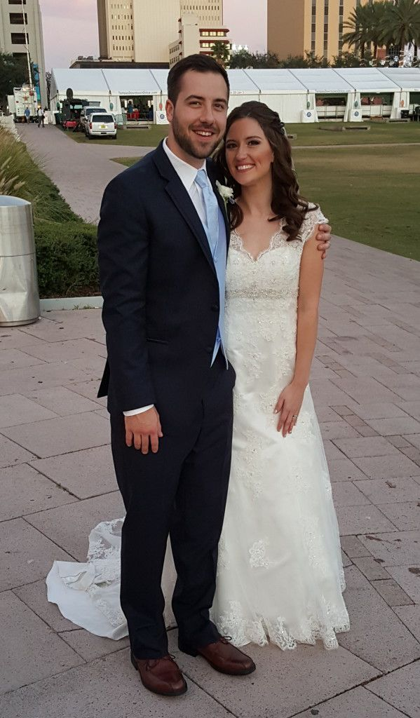 The newly married Amanda and Cody