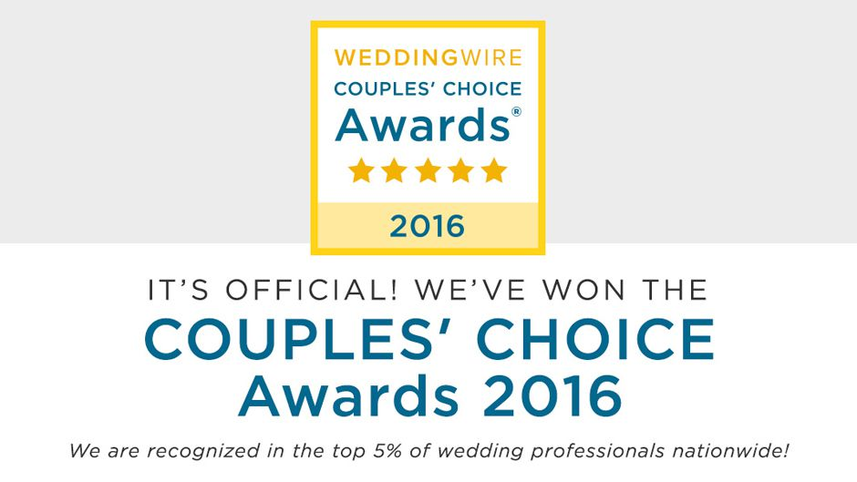Wedding Wire Couples Choice 2016 banner