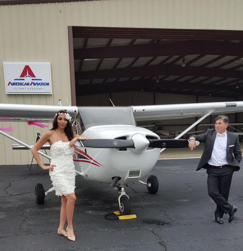 Brooksville Wedding Ceremony on Airport Tarmac