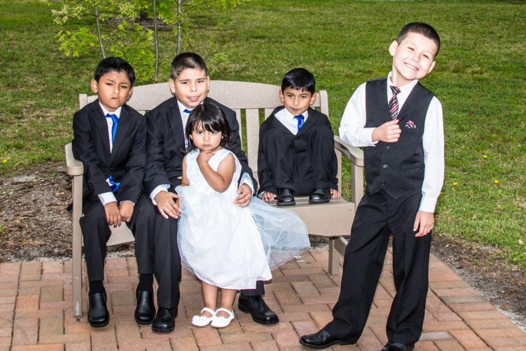 Kids can have fun at the park during the wedding reception.