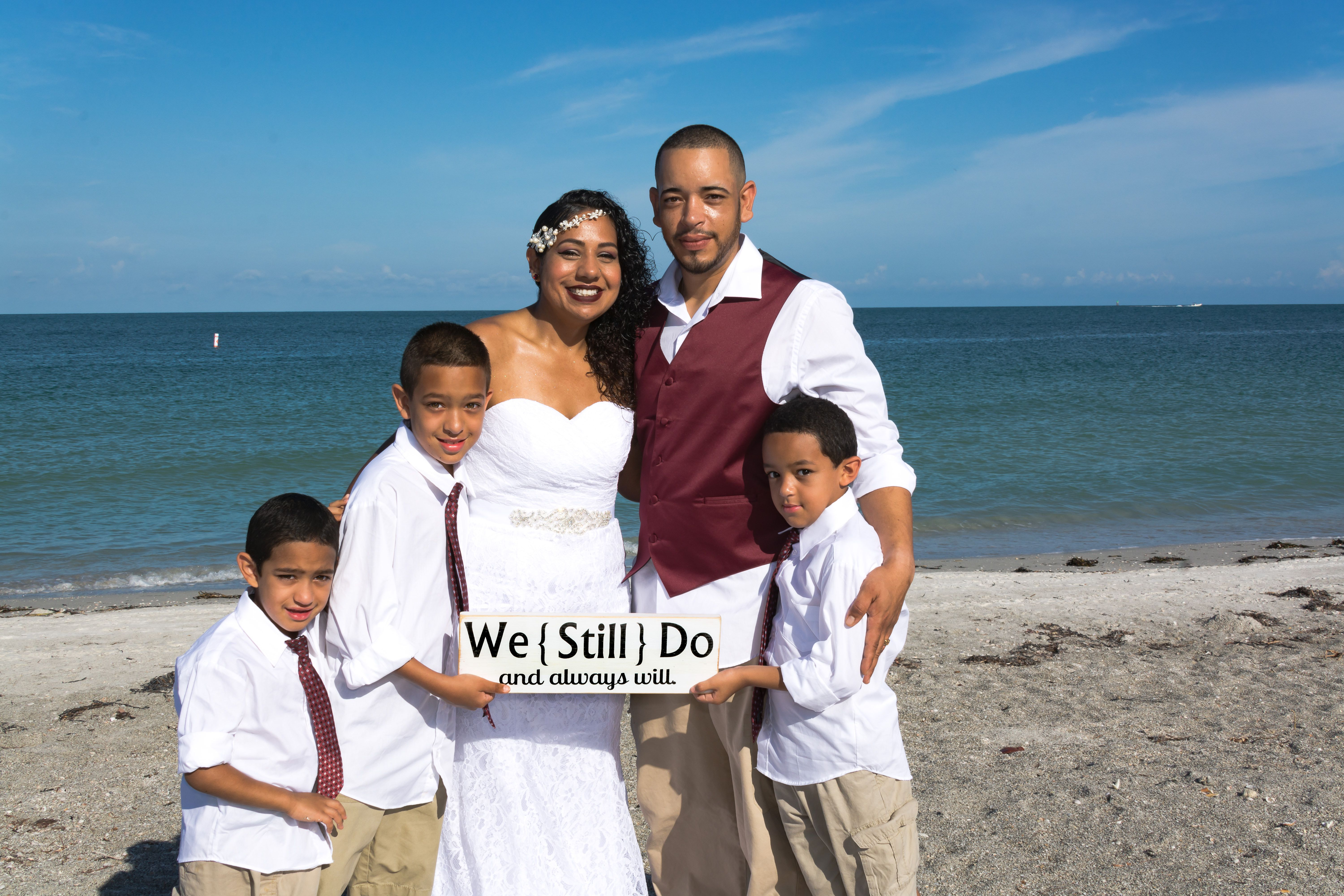 Beach Vow Renewal Ceremony: Anniversary Gift Idea- Wedding Anniversary Vow Renewal